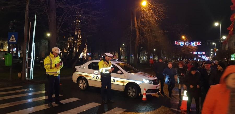 Polițiștii arădeni, la datorie de Anul Nou
