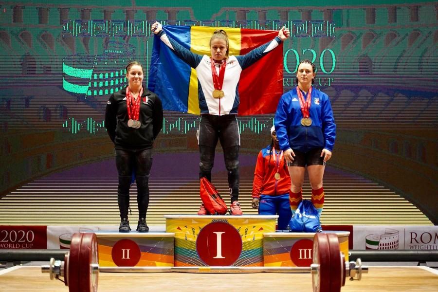 Loredana Toma, trei medalii de aur la Cupa Mondială de haltere de la Roma