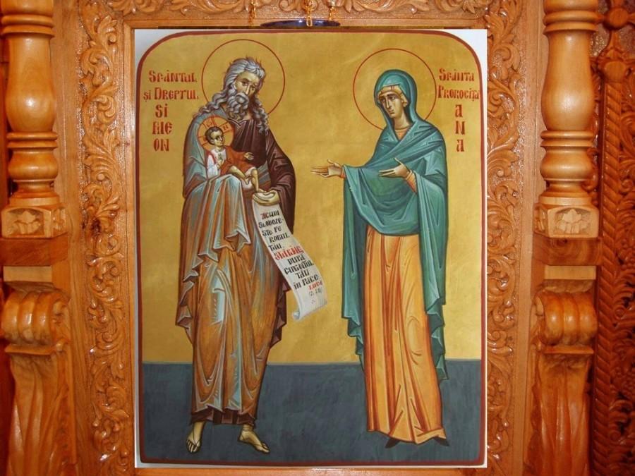 Sfântul și Dreptul Simeon, primitorul de Dumnezeu, și Prorocița Ana