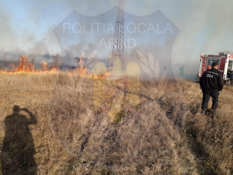 Incendii lichidate ca urmare a intervenției polițiștilor locali