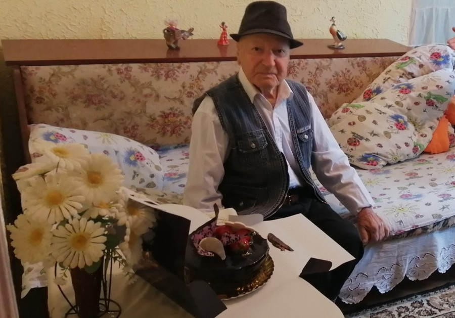 Veteranul de război Ion Mîzgoi, sărbătorit la împlinirea vârstei de 101 ani