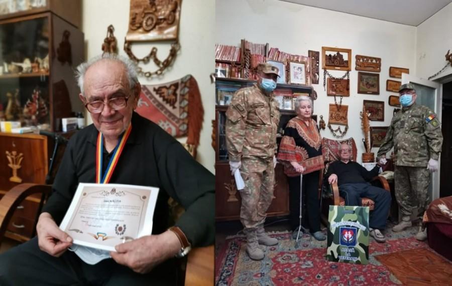 Veteranul de război Ioan Malița, sărbătorit la împlinirea vârstei de 95 de ani