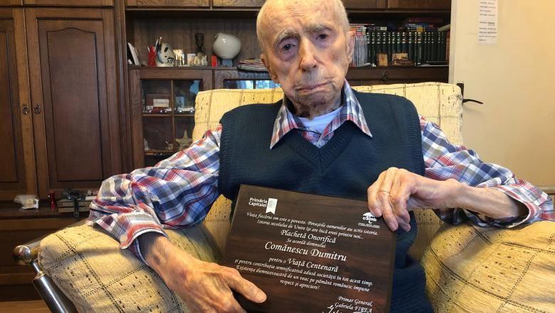 Românul Dumitru Comănescu este cel mai în vârstă bărbat din lume. Secretul longevității, dragostea familiei