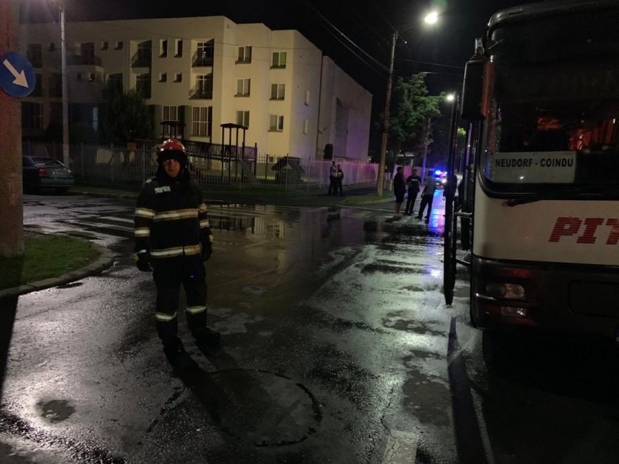 Un autobuz Pito Trans a luat foc lângă MARANATA