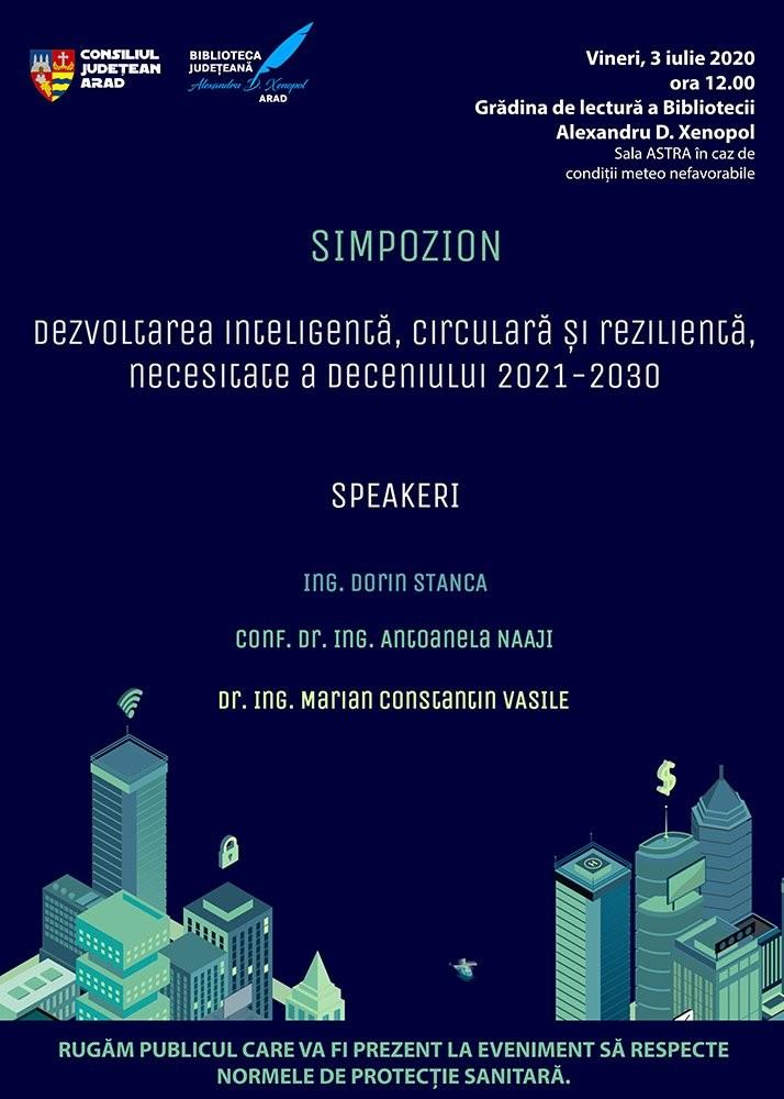 """Biblioteca Județeană """"Alexandru D. Xenopol"""" va fi gazda Simpozionului: """"Dezvoltarea inteligentă, circulară și rezilientă, necesitate a deceniului 2021-2030"""""""