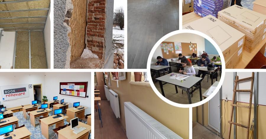 7 scoli renovate de Asociatia BookLand in mediul rural! Pana la final de an vor fi 12