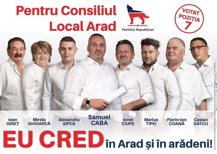 Cine face parte din echipa de consilieri ai Partidului Republican din Arad