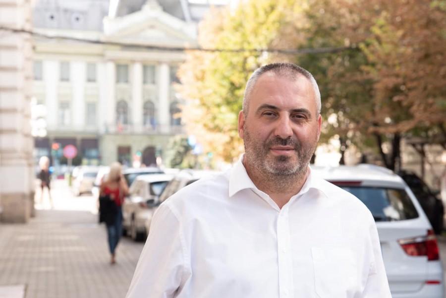 Pe scena Aradului împreună cu Samuel Caba - candidat pentru primăria Aradului