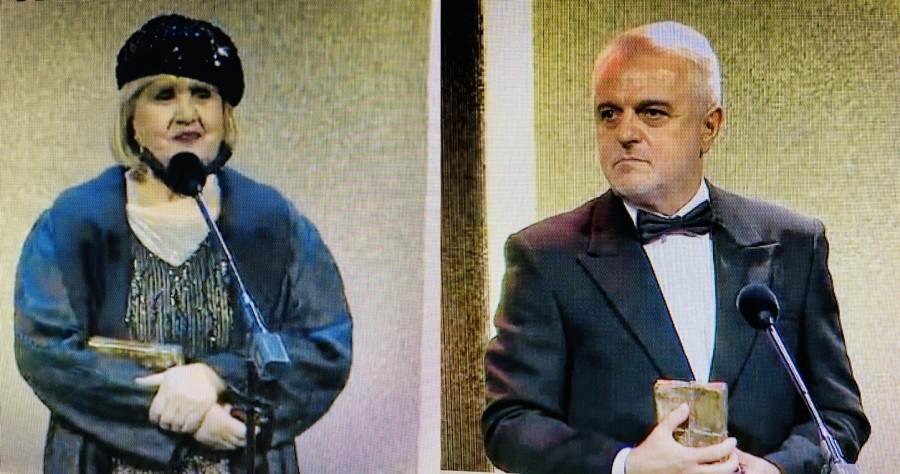 Actorii Rodica Mandache şi Mircea Rusu, premiaţi pentru întreaga activitate la Gala UNITER de la Craiova