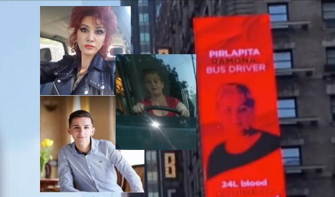 Povestea a patru români donatori de sânge, proiectată pe ecranele din Times Square, în New York. Au salvat viețile a peste 850 de oameni