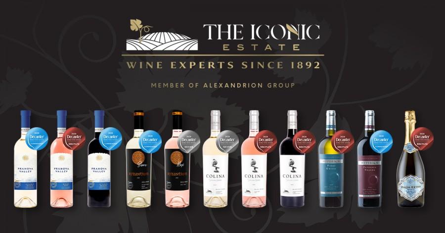 Vinurile The Iconic Estate, din portofoliul Alexandrion Group, au cucerit medalii la cea mai mare şi influentă competiţie dedicată vinurilor- Decanter World Wine Awards 2020