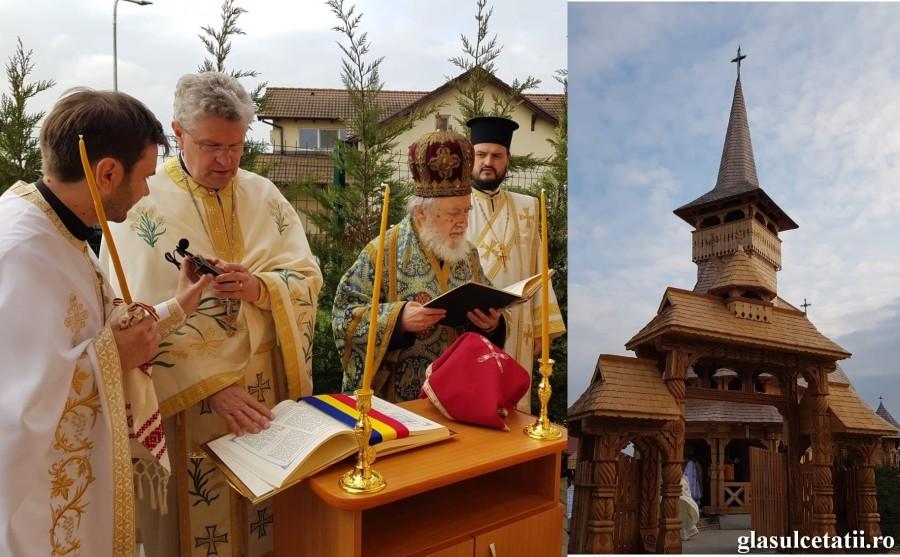 (FOTO) Biserica din incinta Clinicii Laser System din Vladimirescu a fost sfințită astăzi, în Duminica Sfintei Cruci