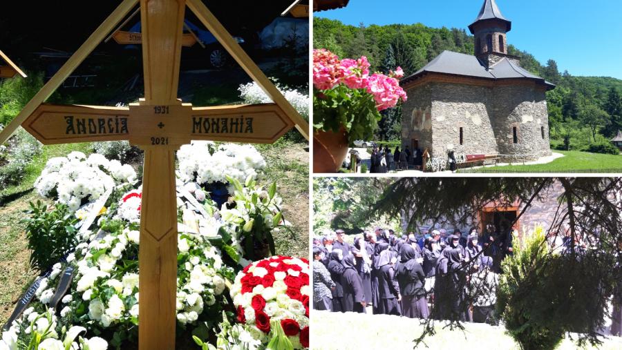 Poienița Prislopului s-a mai îmbogățit cu o cruce. Maica Andreia, cea care îngrijea mormântul Părintelui Arsenie, a trecut la cele veșnice