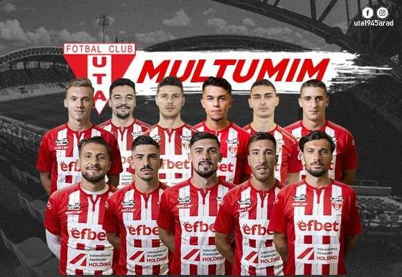 UTA Arad s-a despărţit de 11 jucători