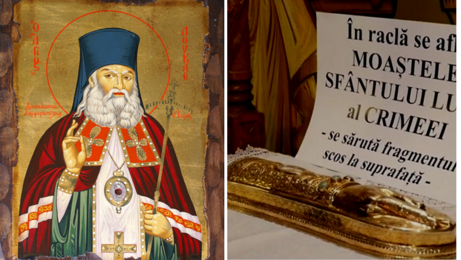 Moaștele Sfântului Ierarh Luca al Crimeei, aduse spre închinare arădenilor