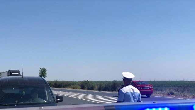 Razie pe șoselele județului: șoferii viteziști au fost sancționați cu zecile
