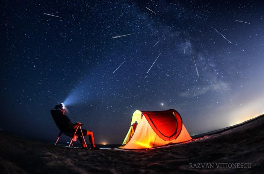 Ploaie de stele la noapte. Unde trebuie să privim cerul pentru a vedea Perseidele