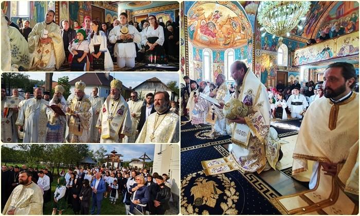 """(FOTO) PS Emilian, la târnosirea bisericii din Drăghia: """"Această sfințire ne duce cu gândul la însemnătatea Casei lui Dumnezeu unde are loc împăcarea creștinului cu Sfânta Treime"""""""