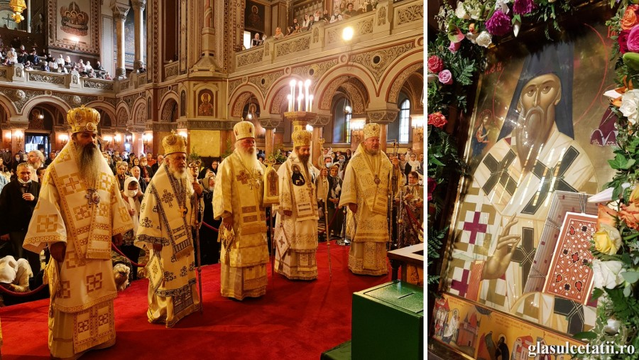 (FOTO) Ierarhii arădeni au participat la prăznuirea Sfântului Iosif cel Nou de la Partoș, Ocrotitorul Banatului