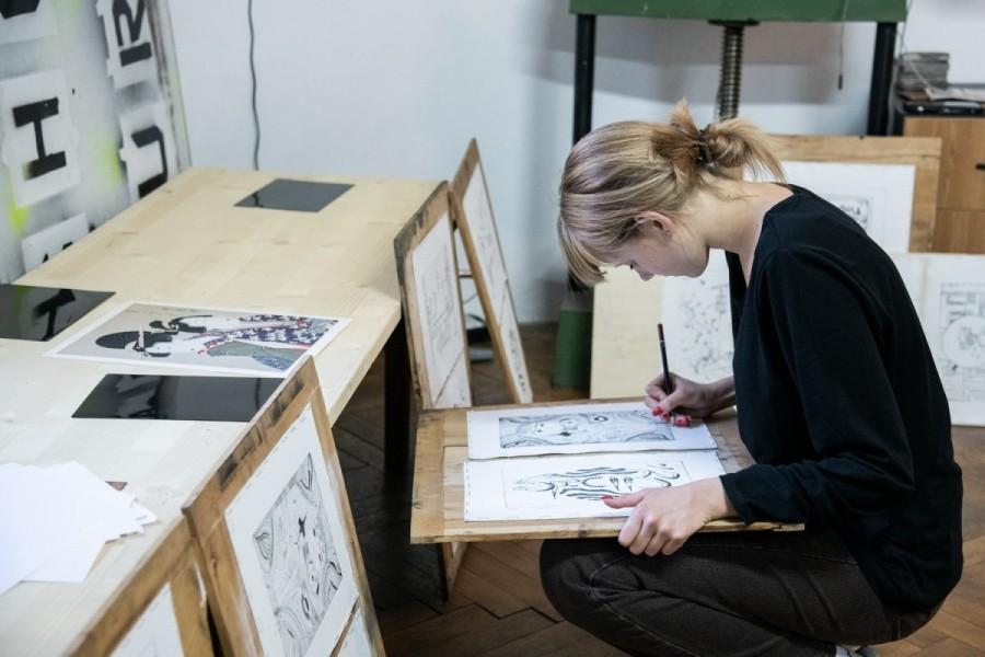 Workshop de gravură pentru tineri la Muzeul de Artă Arad